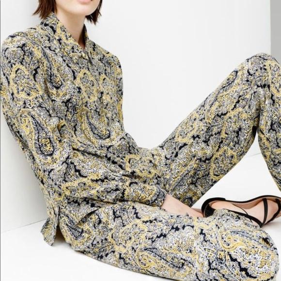 ae5f5a66 Zara Tops | New Women Blouse Med Paisley Zipper Detail | Poshmark